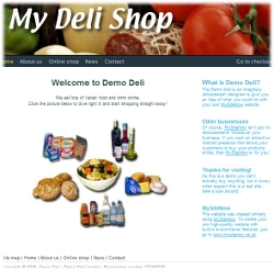 Screenshot of Online Delicatessen demo